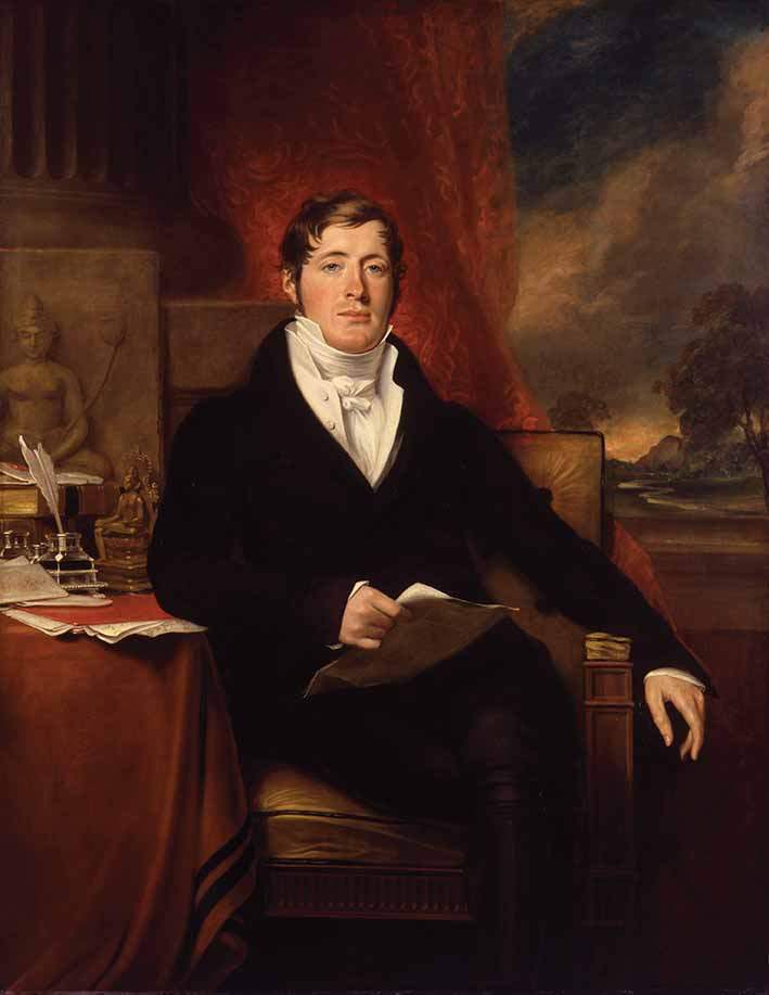 Sir Thomas Stamford Bingley Raffles (1781-1826) painted by George Francis Joseph in 1817 © National Portrait Gallery, London