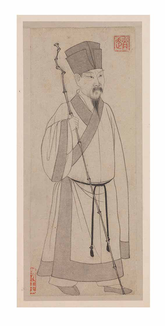 Portrait of Su Shi (1301), from Odes on the Red Cliff by Zhao Mengfu (1254-1322), album leaf, ink on paper, Yuan dynasty (1279-1368), 27.2 x 11.1 cm © National Palace Museum, Taipei