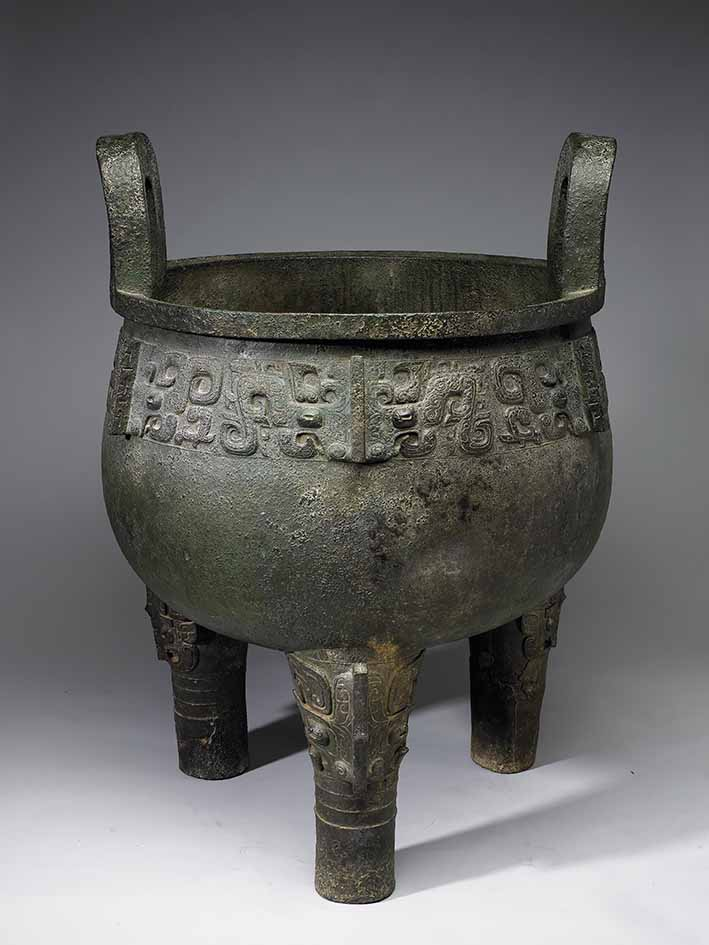 Pengzu ding tripod, bronze, Late Shang to Western Zhou dynasties (circa 1300s-771 BC to circa 1100s–900 BC), 85.5 x 59.4 cm, 94.65 kg, National Palace Museum, Taipei © National Palace Museum, Taipei