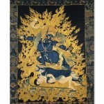 Yama, 'Lord of Death', embroidered cloth, Tibet, 18th century © The Trustees of the British Museum
