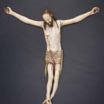 Crucified Christ, probably Japan, early 17th century, ivory, traces of paint, Asian Civilisations Museum