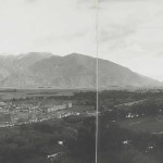 Lhasa Panorama, Lhasa, Tibet (1904) by John Claude White (British, 1853-1918), six fold-out platinum prints taped together and mounted in album; The British Library, Photo 430/53 (89). Photograph © The British Library Board