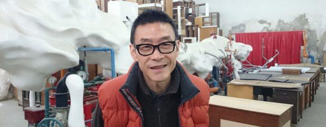 Wang Jianwei photographed in his Beijing studio. Photo by Michael Young