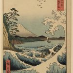 Waves off the Satta Pass in Saruga Province, no 23 from the series Thirty-six Views of Mt Fuji, 1858, by Utagawa Hiroshige I1797-1858), woodblock print, Allen Memorial Art Museum, Mary A Ainsworth Bequest