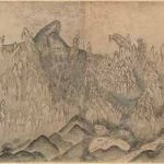 Diamond Mountains by Sin Hakgwon (1785-1866) Korea, Joseon dynasty (1392–1910), mid-19th century, six sheets of paper mounted as a single panel; ink and colour on paper, image 47.3 × 235 cm, The Metropolitan Museum of Art, Purchase, Friends of Asian Art Gifts, Gift of Dr. Mortimer D. Sackler, Theresa Sackler and Family, and Brooke Russell Astor Bequest, 2017
