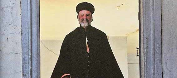 Syrian Orthodox Bishop Sakar at St Thomas' Church in Mosul, Iraq (photo by Jane Taylor)