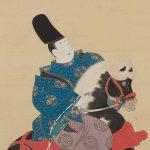 Narihira's Journey to the East by Suzuki Kiitsu, pair of hanging scrolls, ink, colour, and gold on silk, Edo period 19th century, Koichi Yanagi at JADA Group Show