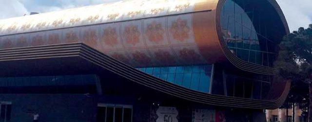 The Azerbaijan Carpet Museum in Baku, designed by Franz Janz