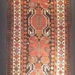 Bahmanli carpet, Karabakh group, Azerbaijan, late 19th century, wool, pile woven, 123 x 300 cm