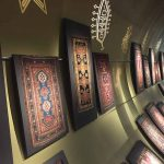 View of the second floor galleries at the Azerbaijan Carpet Museum