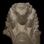 Architectural element with a multiheaded mythical serpent, approximately 1150–1250. Vietnam; Binh Dinh province, former kingdoms of Champa, stone, Asian Art Museum, gift of Richard Beleson in honour of Hanni Forester © Asian Art Museum