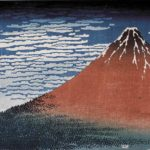 Fine wind, clear weather (Red Fuji) by Hokusai, circa 1830-32, from the series, The Thirty-six Views of Mt Fuji