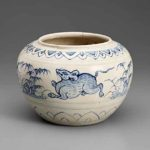 Blue-and-white jar, approximately 1450–1500, Northern Vietnam; Chu Dau, stoneware with cobalt decoration under glaze, gift of David and Mary Bromwell © Asian Art Museum