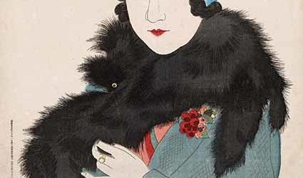 Early Spring (Shensun): Manners of Showa Women (Showa bijiin fuzoka), 1931, by Ito Shinsui, colour woodblock, 35.4 x 23.3 cm. Lillian Ernestine Lobb Bequest