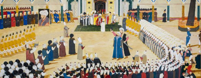Sultan's Accession to the Throne Ceremony with Drone (2018 ) by Halil Altındere