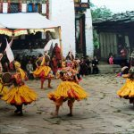 Dancers at Nimalung Tsechu
