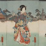 Feast on the Auspicious First Day of the Year at Kameido Shrine (1854) by Utagawa Kunisada