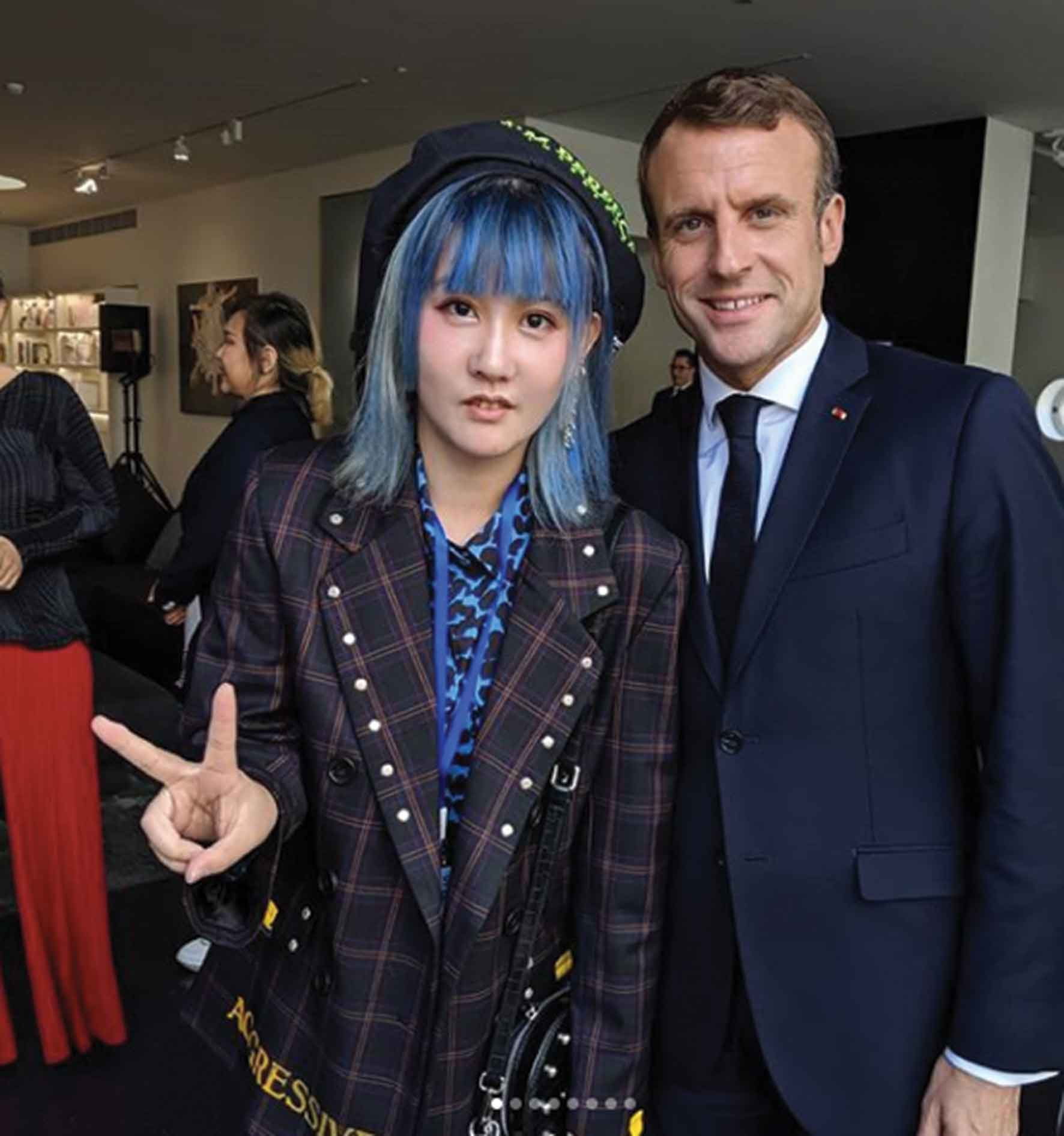 LuYang-with-Macron_Instagram
